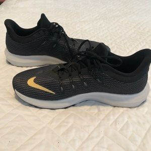 Nike Black and Gold Running Shoes
